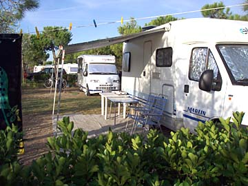 am Campingplatz in Cortellazzo