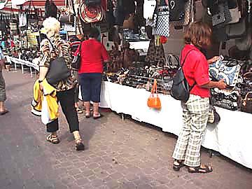 Lido di Jesolo, Italien -Markt-