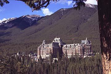 das legendäre Banff Springs Hotel in Banff, Westkanada