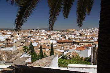 Blick über die Stadt von Antequera