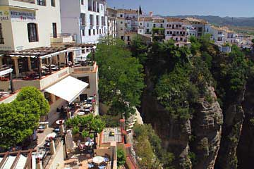 Blick vom Restaurante Don Miguel in Ronda