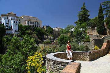 Im wunderschönen Jardines de Cuenca in Ronda