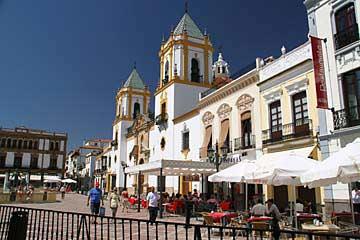 Am Parkhaus am Plaza de la Merced in Ronda