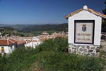 Der Aussichtspunkt oberhalb des Dorfes Grazalema