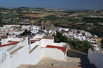 Ausblick auf des Unterdorf von Arcos de la Frontera