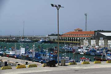 Blick auf die Boote im  Purto de Tarifa
