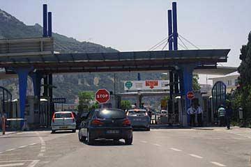 Der Grenzübergang ins britische Gibraltar