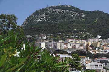Ausblick auf die Stadt und den Felsen von Gibraltar