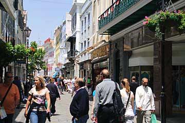 Fußgängerzone im britischen Gibraltar