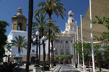 Am Plaza de San Juan de Dios in Cádiz