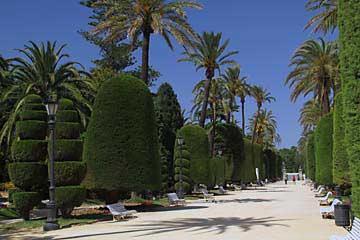 Der schön angelegte Parque Genovés in Cadiz