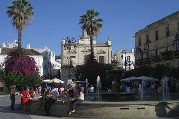 Der Plaza Cabildo in Sanlucar de Barrameda an der Costa del la Luz