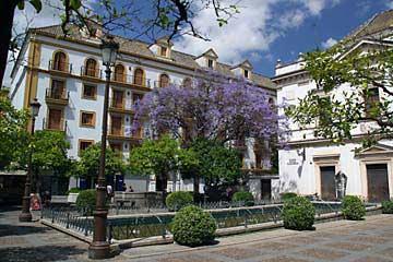 Der schöne Plaza Concordia in Sevilla