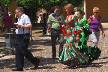 Spanische Kleidung in Cordoba im Süden von Spanien