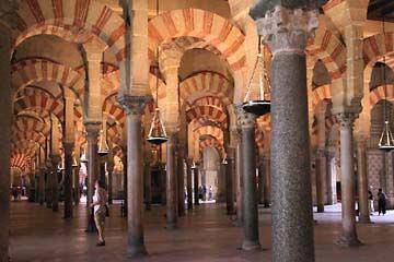 Die Gebetshalle der Mezquita in Cordóba