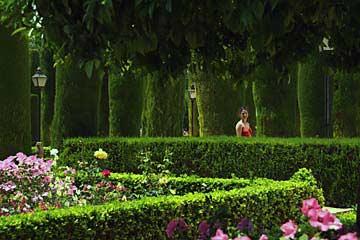 In der Gartenanlage des Alcázar de los Reyes Cristianos