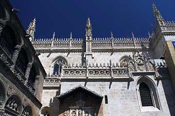Die Capilla Real an der kathedrale von Granada in Andalusien