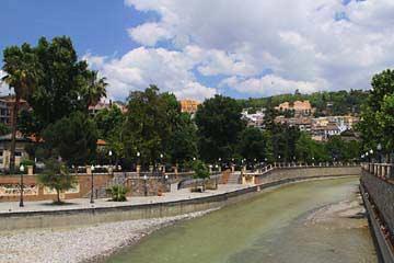 Ausblick von der Puente Blanco in Granada