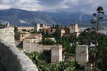 Ausblick auf die Alhambra und die Serra Nevada