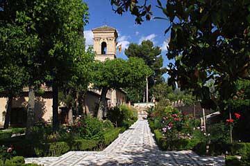 Ein Teil der Anlage des einzigartigen Parador de San Francisco in der Alhambra
