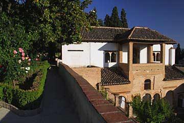 Wasserspiele im Palacio de Generalife in der Gartenanlage der Alhambra
