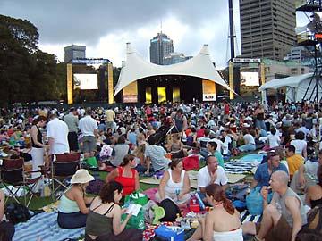 Konzert der Reihe Symphony in the Domain in Sydney