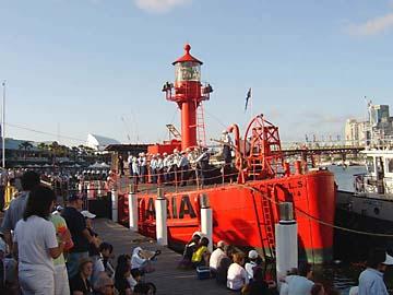 Schiffsregatta in Darling Harbour am Australia Day in Sydney