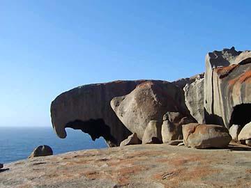 Markante Gesteinsformation an den Remarkable Rocks von Kangaroo Island