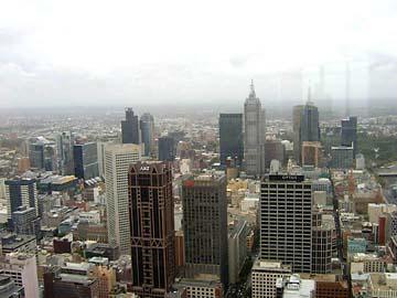 Aussicht vom Observation Deck der Twin Towers in Melbourne