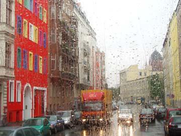 Busrundfahrt im Regen
