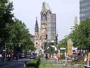 Die Gedächtniskirche im Zentrum Berlins