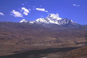 auf der Fahrt zum Skigebiet Chacaltaya bei La Paz, Bolivien