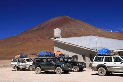 An der grenze zwischen Chile und Bolivien