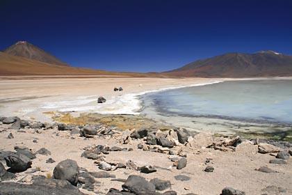 Blick auf die Laguna Blanca in Bolivien
