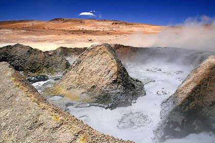 Unglaubliche Kontraste an der Laguna Blanca in Bolivien