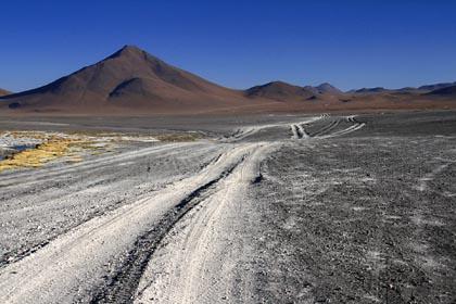 Pfade im bolivianischen Altiplano