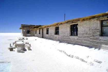 Das ehemalige Salzhotel in der Salar de Uyuni