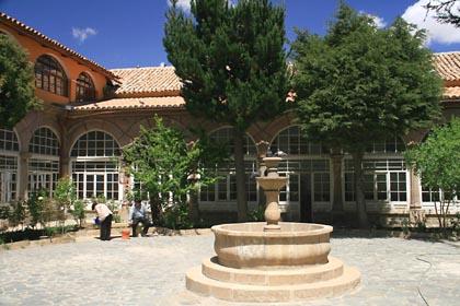 Der Innenhof des Konvents in Potosi