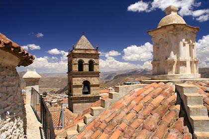 Auf dem Dach des Convento Museo San Francisco in Potosi