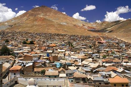 Der Berg Cerro Rico ist der Hausberg von Potosi