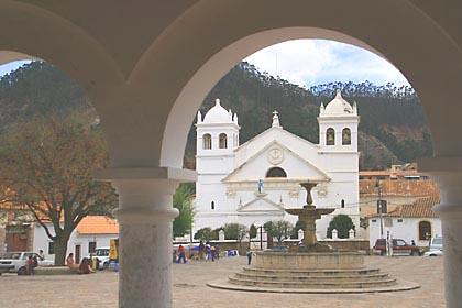 Die Iglesia de Recoleta am Plaza Recoleta in Sucre