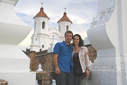 Wir auf dem Dach der Kirche San Felipe Neri in Sucre