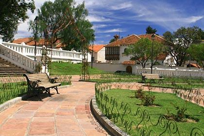 Im Parque Bolivar in Sucre
