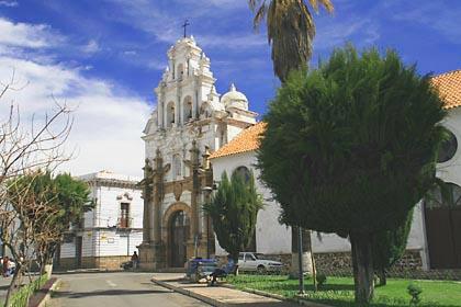 Kolonialer Baustiel in der Haupstdt Boliviens in Sucre