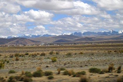 Ausblick auf die Anden hinter La Paz