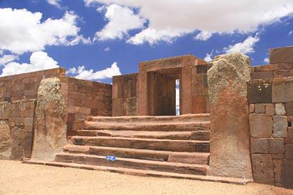 Eingangstor zur Kalasaya-Plattform in Tiwanaku