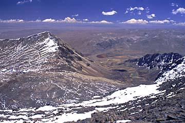 die Landschaft um Chacaltaya, Bolivien