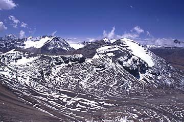 Rundumblick auf 5.550m Höhe, Chacaltaya, Bolivien