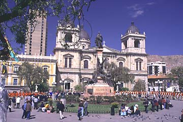 die schöne Plaza Morillo in La Paz, Bolivien