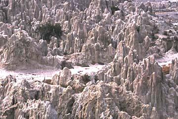 die Mondlandschaft bei La Paz, Bolivien